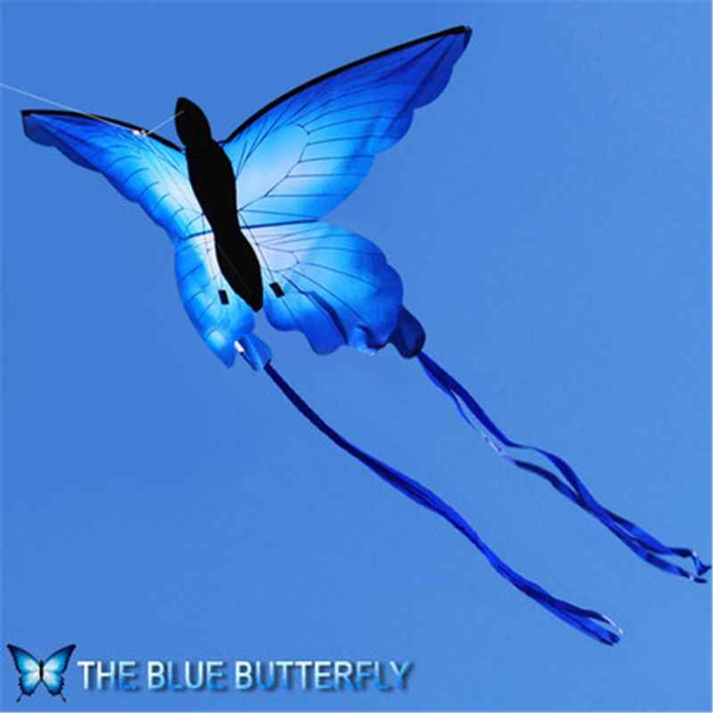 So Beautiful Blue Butterfly Kite Outdoor Fun Kite With 30m Line Kids Toy Summer Sports
