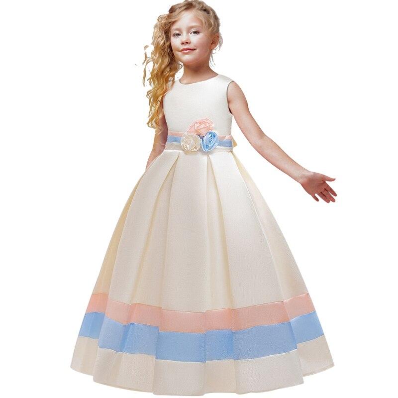 Flower Girl Princess's Wedding Birthday Party Segment Long Dress Girl's First Eucharist Party Dress Vestidos De Fiesta