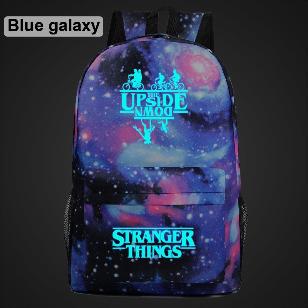 Hot Luminous Stranger Things Letters Weird Boy Girl School Bag Women Bagpack Teenagers Schoolbags Men Children Student Backpack