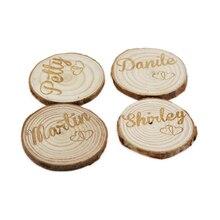 Cartes lieu Table en bois naturel gravé personnalisé 100 pièces, disques artisanaux