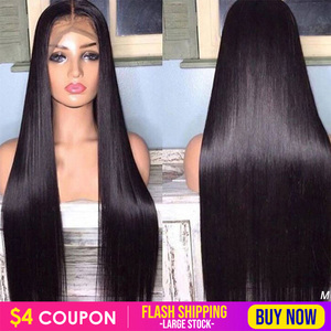 Ably Malaysian Straight Lace Front Wig Pre Plucked HairLine 13x4/13x6 Lace Front Human Hair Wigs For Women 8-26 Inch 150% Remy(China)