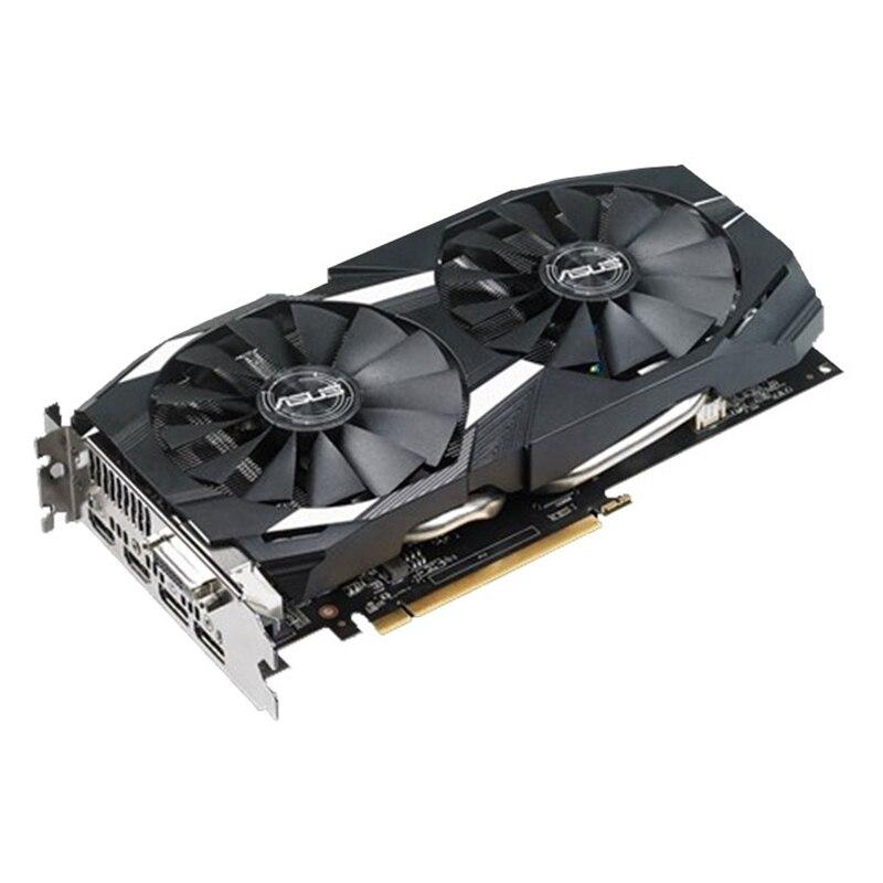 Видеокарта ASUS RX 580 8 Гб GPU AMD Radeon RX580 8 Гб графические карты PUBG компьютерный игровой экран VGA DVI HDMI видеокарта 570 560 550-2