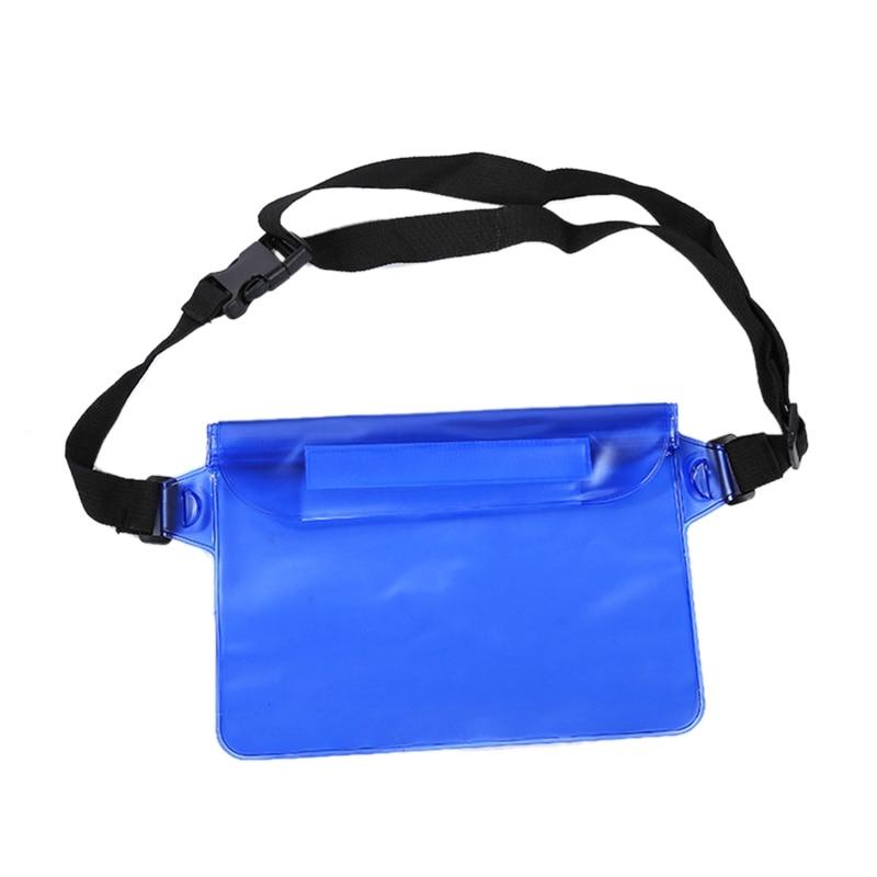 Outdoor Waterproof Pockets Drifting Diving Swimming Bag Adjustable Belt Waterproof Storage Bag For Water Activities Storage Impo