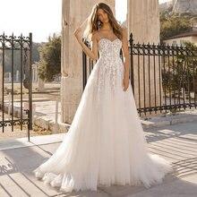 Изысканные кружевные свадебные платья с иллюзией sweeheart без