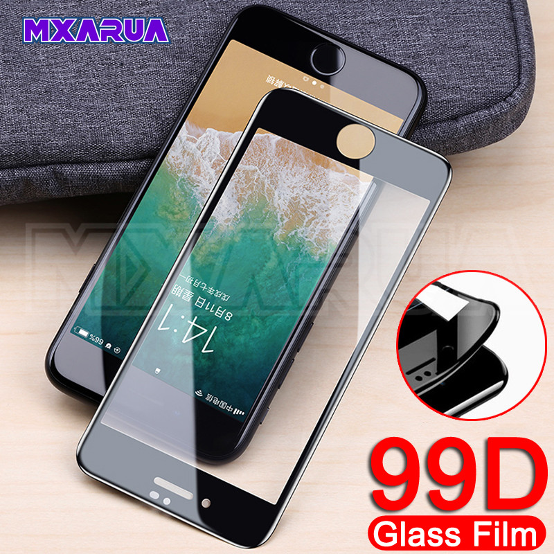New 99D Curved Full Cover Tempered Glass For IPhone 8 7 6 6s Plus Screen Protector For IPhone X XR XS 11 Pro Max Protective Film