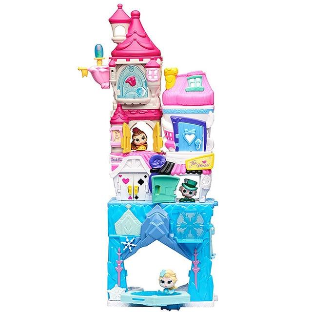 Disney Doorables Frozen Elsa Snow White Belle Princess Castle Luxury Fairytale House Q Dollhouse Kids Toys Girls Christmas Gift 2