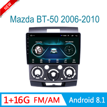 multimedia system for Ford everest 2006-2010 for mazda bt-50 auto radio GPS navigation DVD video player FM wifi 1din Android8.1 image