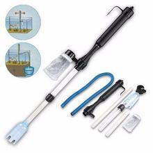Аквариумный батарейный сифон, управляемый аквариумом, вакуумный гравийный фильтр для воды, очиститель сифонного фильтра, инструменты для аквариума
