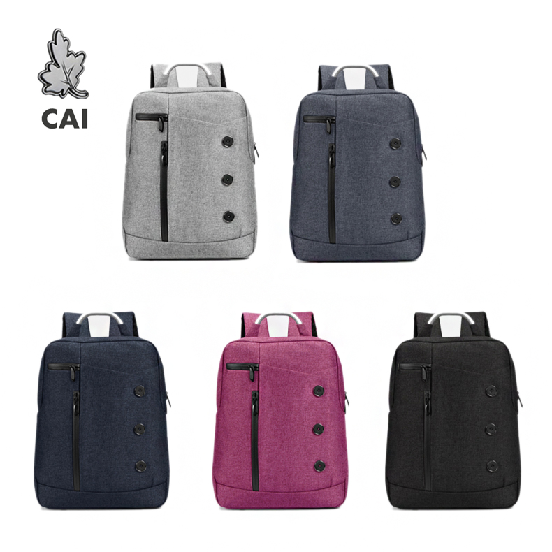 CAI Fashion Waterproof school Backpack Rucksack Business Travel Bag 14 Laptop Men/Women College Student Bags Casual bookbag image