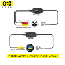 Receiver Transmitter Rear-View-Reverse-Camera-System-Monitor Wireless Video RCA for Rv-Car