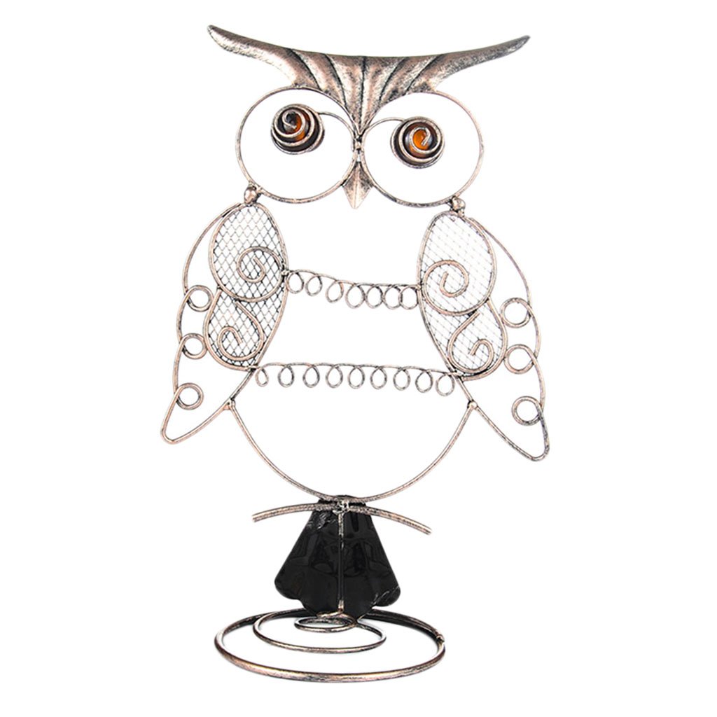 Owl Shape Design Earring Organizer Jewelry Display Rack Stand - Dangle And Hook Earrings Hanging Showcase For Home Decor