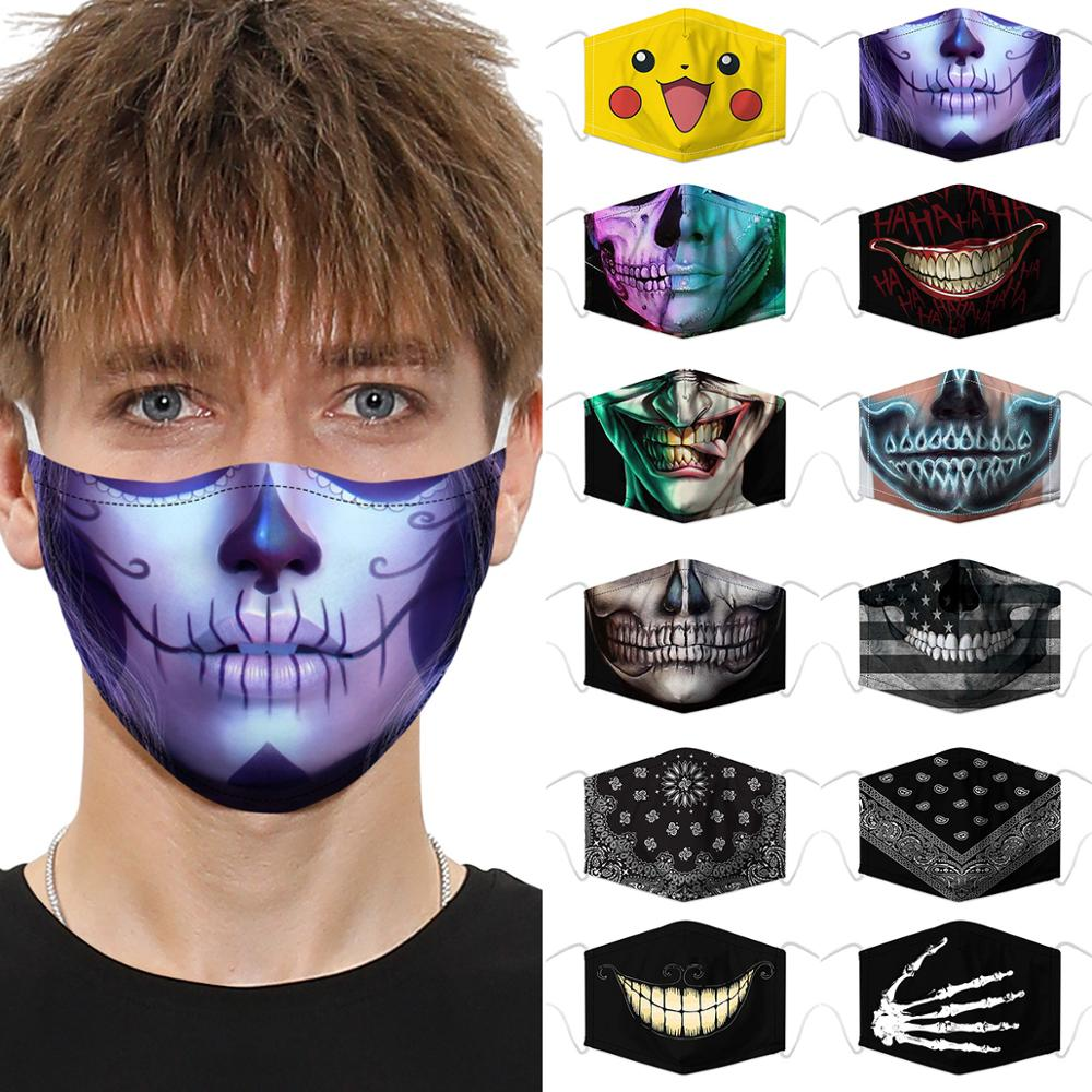Cosplay Animal Cartoon Print 3D New Face-shield Child 2020 Hot Facewear Anti-dust Windproof Washable Fliters Props For Cycling