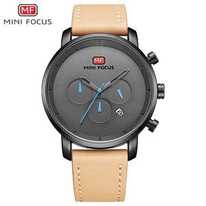 Image 2 - นาฬิกาแฟชั่นผู้ชายอเนกประสงค์ Dial Sub Multi Function Slim นาฬิกาผู้ชายหนังนาฬิกาสายรัดข้อมือ Relogio Masculino