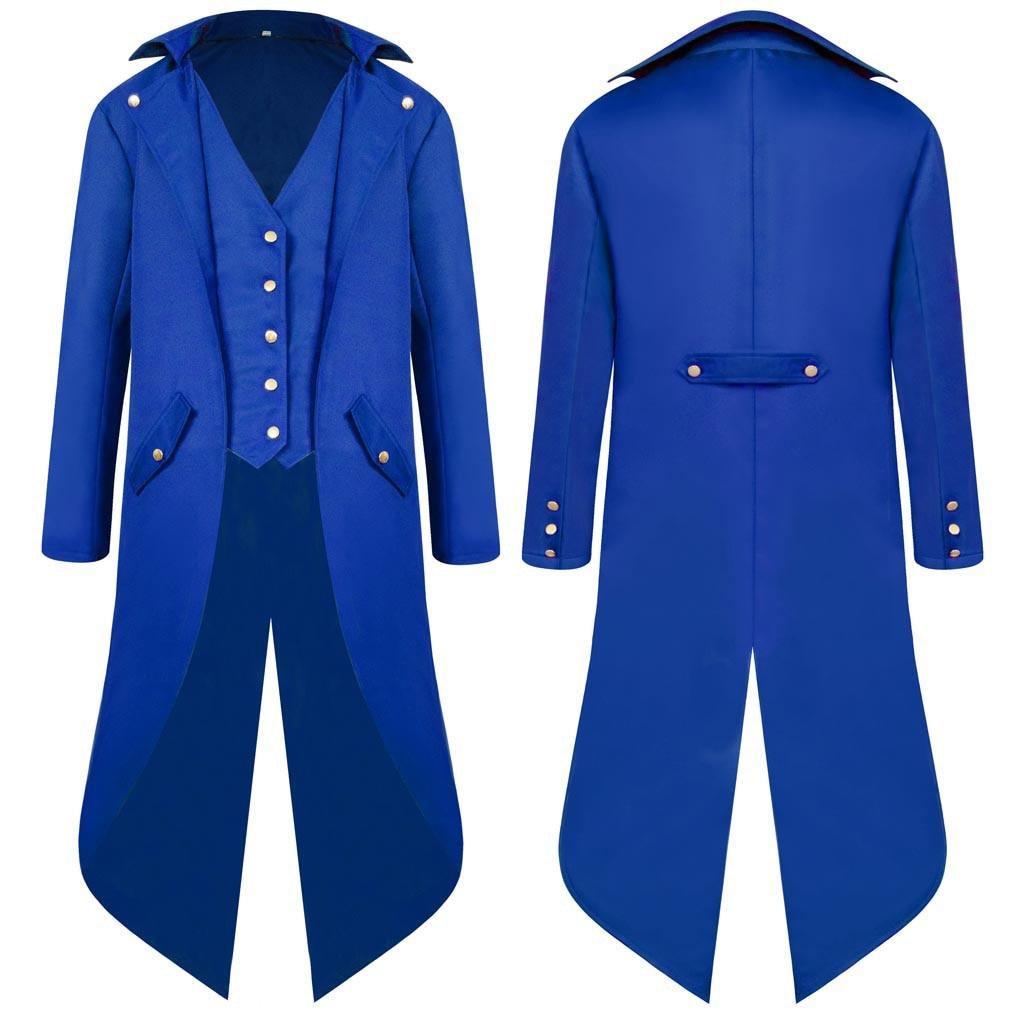 H9c8d8fd51c7740c8bd65ea2120255512q vintage Medieval Robe Cosplay Costume vintage men's trench Men's Coat Tailcoat Jacket Gothic Frock Coat Uniform Praty Outwear#g3