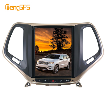8.1 Tesla style Vertical car radio stereo GPS for JEEP Grand Cherokee 2014 2017 2018 2019  navigation multimedia tape record