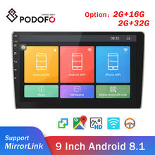 "Podofo 2din Car Radio Android Car Multimedia Player GPS Wifi 9"" 2 Din autoradio For Volkswagen Nissan Hyundai toyota CR-V Kia(China)"