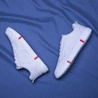 Спортивная мужская обувь; обувь для бега; дышащая обувь с сетчатым верхом; цвет черный, белый, красный; обувь 27 см; модная однотонная мужская ...