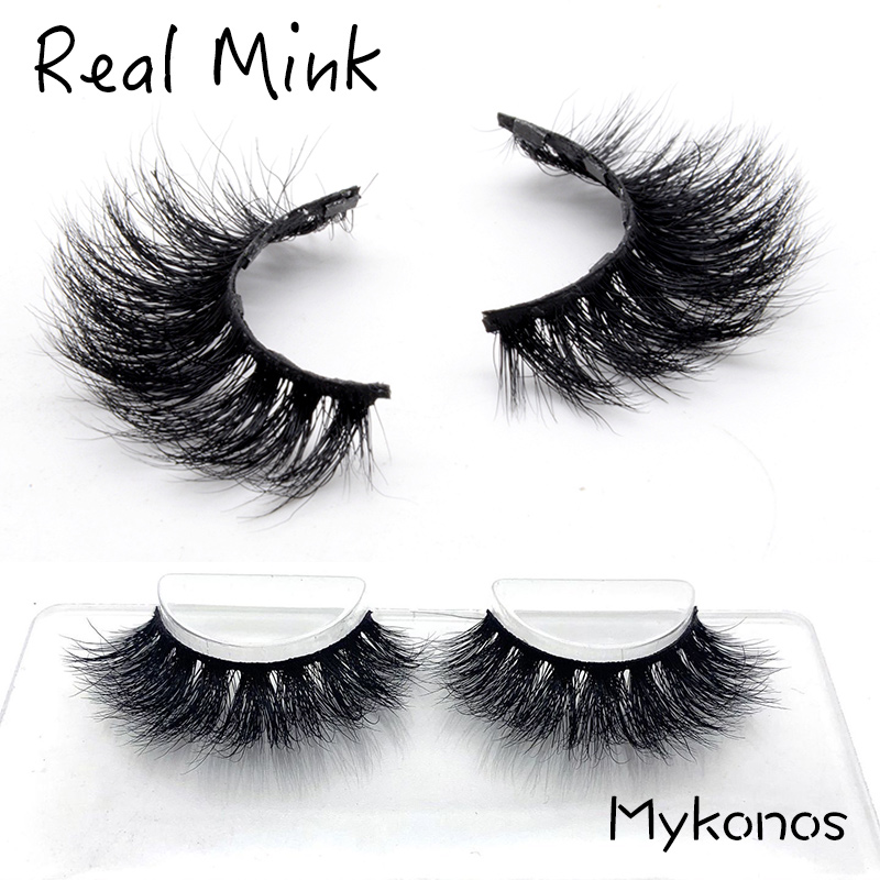 YuBeauty Real Mink Lashes 3D Long Thick Eyelashes Mykonos Family High Quality Wholesale