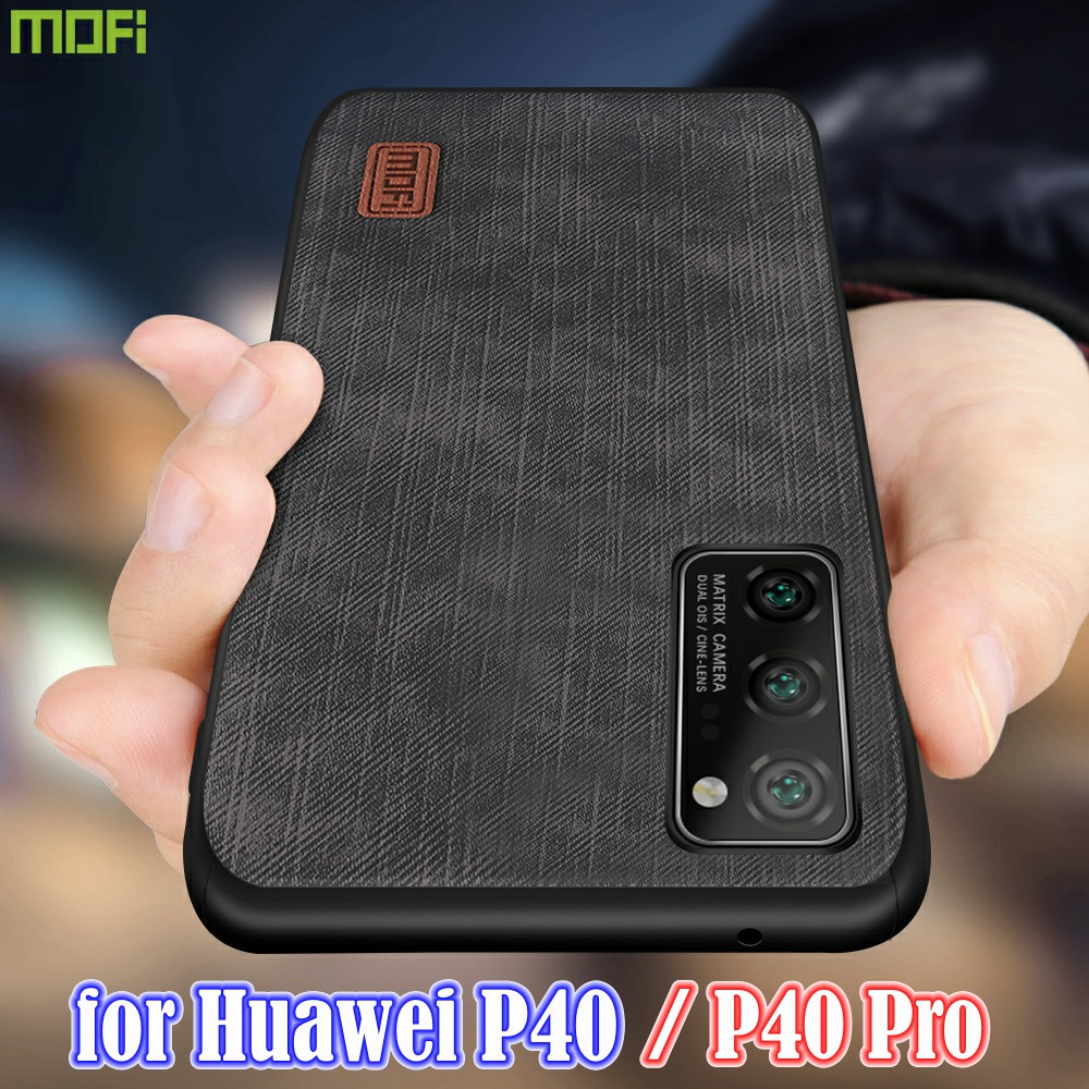 MOFi For Huawei P40 Case P40 Pro Cover Housing Silicone Shockproof Jeans PU Leather TPU High Definition