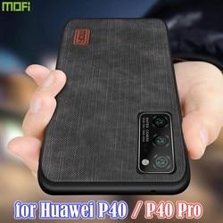 На Алиэкспресс купить чехол для смартфона mofi for huawei p40 case p40 pro cover housing silicone shockproof jeans pu leather tpu high definition