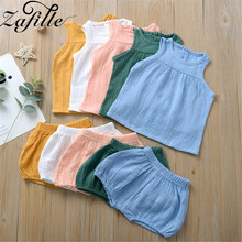 ZAFILLE Summer New Solid Kids Clothes 2020 Cotton Baby Girl Clothes 2Pcs Newborn Infant Outfits Set Baby Boy Suits Kids Clothes jchao kids 5pcs baby boy clothes new 2017 autumn winter newborn baby sets infant girl clothing suits cotton thick warm underwear