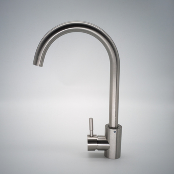 Kitchen Sink Faucet 304 Stainless Steel Single Hole Deck Mounted Hot Cold Water Brushed Nickel  Basin Mixer Taps countertop waterfall deck mounted basin sink tall faucet bathroom mixer taps brushed nickel