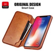 Luxury Original Smart Leather Wallet Card Case For iPhone X XS Xs Max Phone 360 Shockproof Full Protective Back Flip Cover Cases