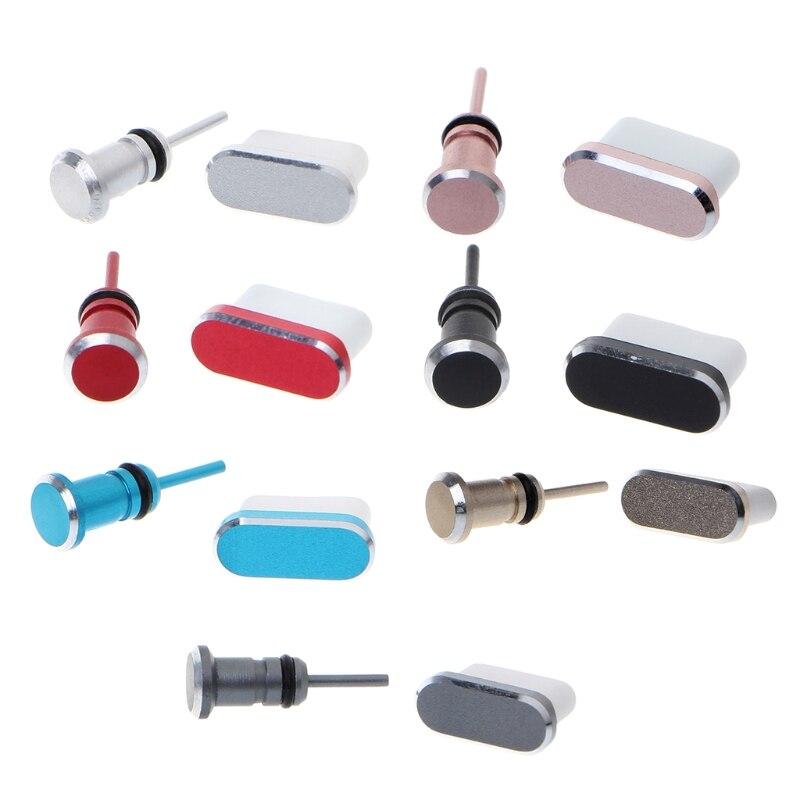Anti poeira plug conjunto usb c porto e 3.5mm fone de ouvido jack plug para huawei companheiro 20 pro p20 p30 xiao mi 9 8 lite a2 mi x 3 f1