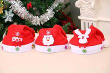 Merry Christmas Hat For Adult Kids Xmas Santa Claus/Deer/Smowman Cap 2019 New Year Christmas Party Decoration Hats new cute kids hats children christmas soft hat traditional christmas santa claus reindeer party favors decoration baby hat gift