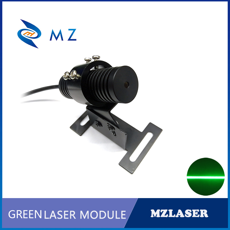A Set Of 520nm 30mw Line Green Laser Module +Bracket + Power Supply