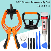 12 in 1 Professional Mobile Phone Repair Tools Open Pliers Suction Cup Screwdrivers Universal For