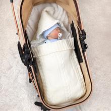 Baby Sleeping Bags Envelopes Newborn Boys Girls Swaddle Wrap Blankets For Autumn Winter Outdoor Toddler Stroller Sleepsacks 0-6M