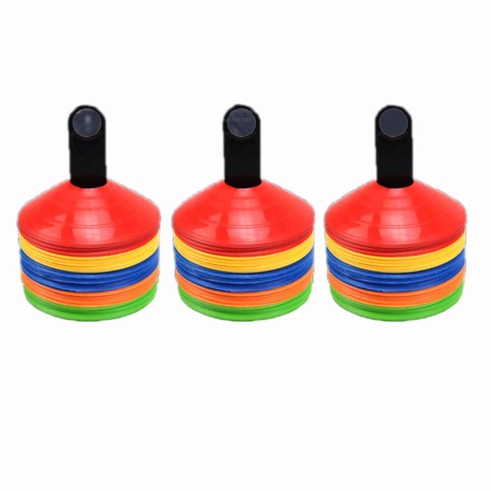 10pcs/lot Soccer Training Sign Dish Pressure Resistant Cones Marker Discs Football Training Tools Bucket PVC Sports Accessories