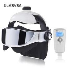 KLASVSA masseur pour le cou et la tête électrique, à infrarouge lointain, à Vibration, Massage pour les yeux, à stimulation musculaire à pression dair, soins de santé