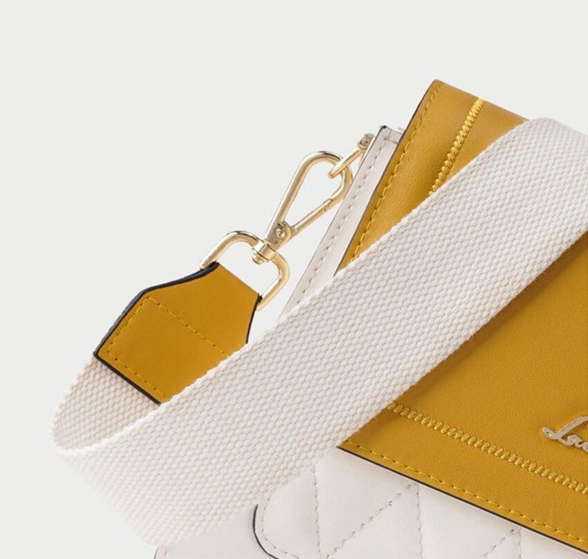 LAORENTOU women leather bag  2020 new fashion contrast color crossbody bag Wild single shoulder bag Small fresh messenger bag 13