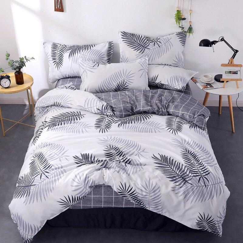 Funda de edredón de algodón a rayas de Aloe Vera Multicolor King, funda de edredón de algodón grueso, nuevas fundas para decoración de cama con cadena