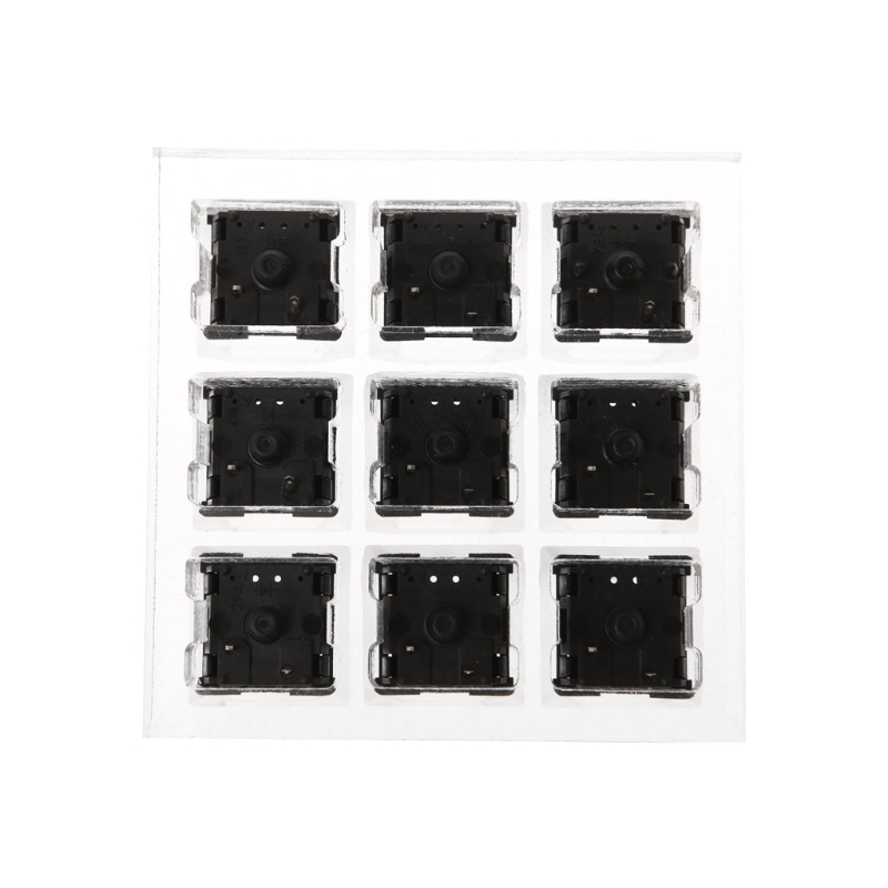9 Cherry MX Switches <font><b>Keyboard</b></font> <font><b>Tester</b></font> Kit Clear Keycaps Sampler PCB <font><b>Mechanical</b></font> <font><b>Keyboard</b></font> Translucent Keycaps Testing Tool image