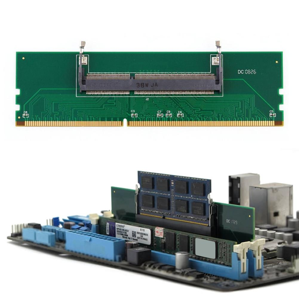 Professional DDR3 Notebook Memory to Desktop Memory Connector Adapter Card 200 Pin SO-DIMM to Desktop 240 Pin DIMM DDR3 Adapter 5