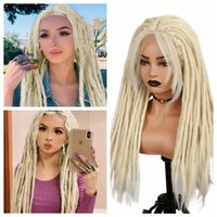 Wignee Blonde Dreadlock Synthetic Wig Hand woven dirty braided headgear Lace Front Wigs Braiding Crochet For Black Women Hair