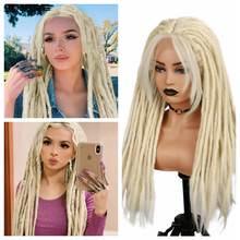 Wignee блонд дредлок синтетический парик ручной работы плетеный