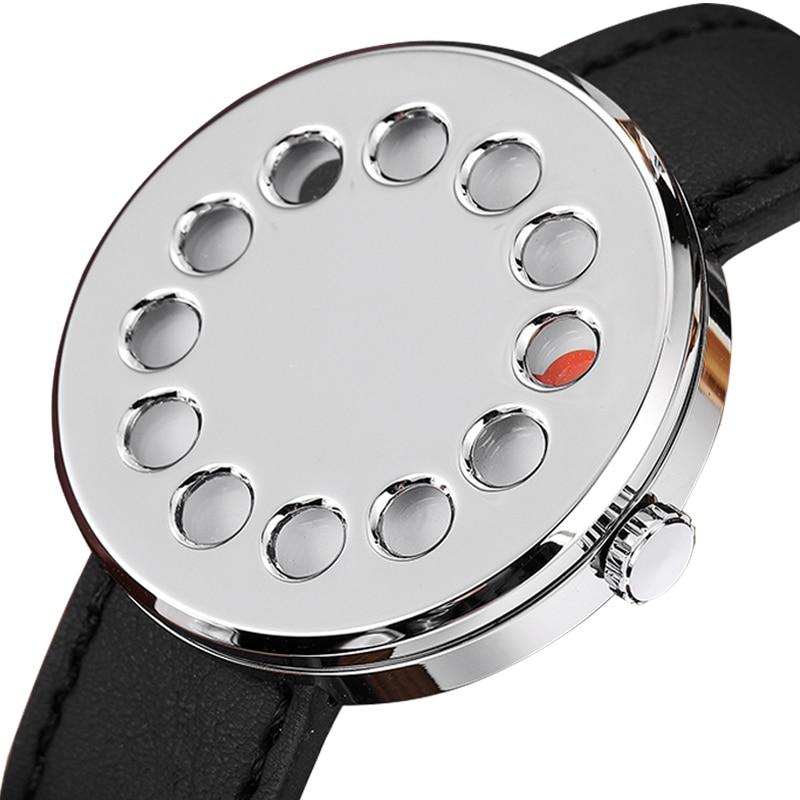 New Unique Creative Watch Men Novelty Turntable Dial Quartz Mens Wrist Watch Top Brand Luxury Relojes Hombre 2020 Unisex Watch