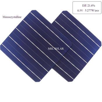 Monocrystalline solar cells High efficiency 21.6% A grade 5.227W diy mono solar panel 100pcs/Lot 1