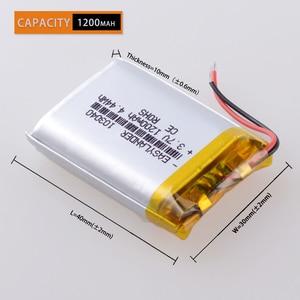 Image 2 - CE ROHS 3.7V 1200mAh 103040 Polymer lithium ion / Li ion battery for MP3 player alarm portable speaker DVD GPS VR Car DVR MP4
