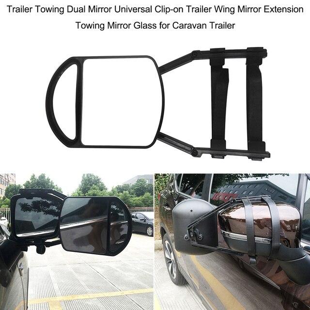 Universal Adjustable Trailer Towing Dual Mirror Car Van Blind Spot Blindspot Towing Reversing Driving Mirror for Caravan Trailer