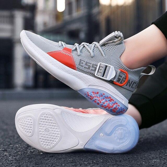 NOVEDAD DE VERANO transpirable hombres corriendo zapatos cómodos zapatos al aire libre antideslizante zapatos deportivos para trote zapatillas de deporte de los hombres originales de los zapatos de los hombres 5