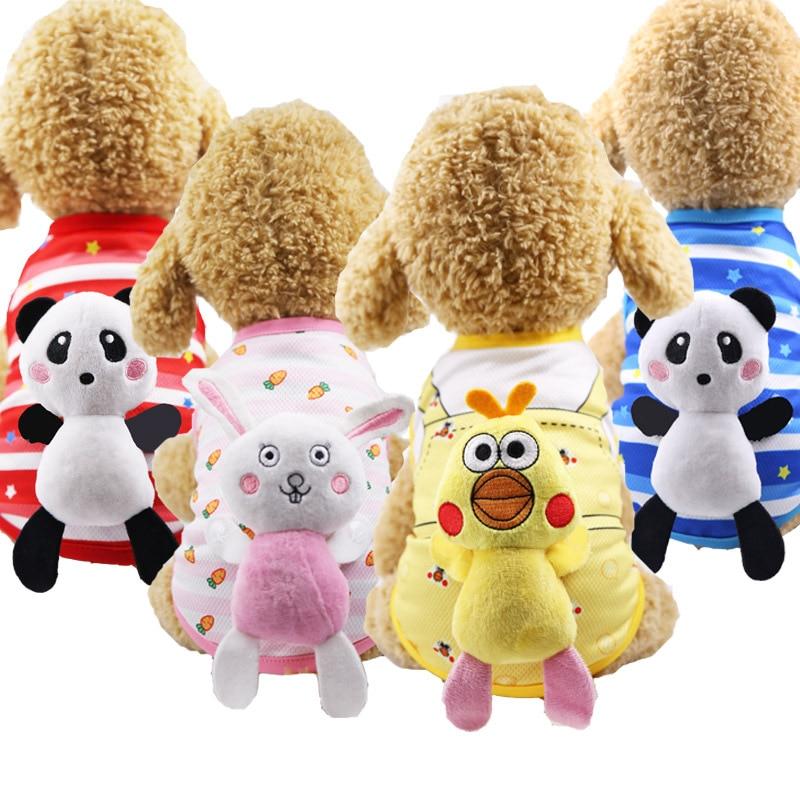 New spring and summer dog vest cat vest mesh cotton straps pet clothes generation pet cat supplies