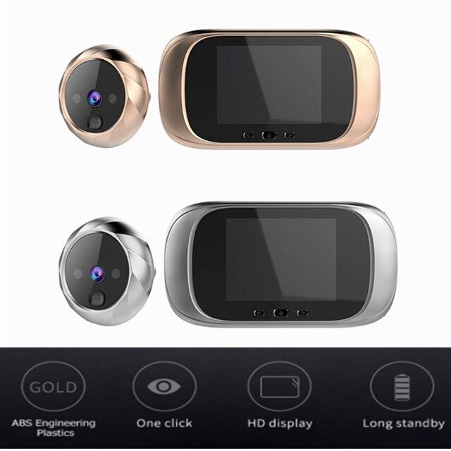 2.8 بوصة LCD اللون شاشة جرس الباب الرقمي مستشعر حركة بالأشعة تحت الحمراء طويلة الاستعداد للرؤية الليلية HD كاميرا في الهواء الطلق جرس الباب