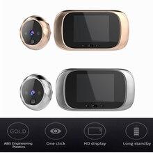 2.8 inç LCD Renkli Ekran Dijital Kapı Zili Kızılötesi Hareket Sensörü Uzun Bekleme Gece Görüş HD Kamera Açık kapı zili