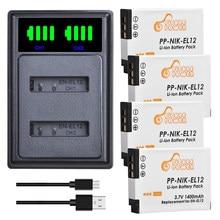 Kit de chargeur de batterie pour Nikon CoolPix S610c S1000pj S6200 S6300 S9400 S9500 S9200 S9700 S9900 AW120 AW110 S70.