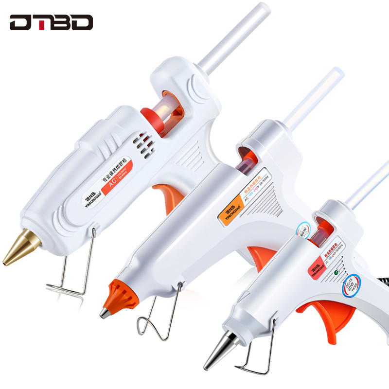 DIY Hot Melt Glue Gun Smart Adjustable Temperature Copper Nozzle Heater Mini Adhesive Glue Gun Repair Heat Tools